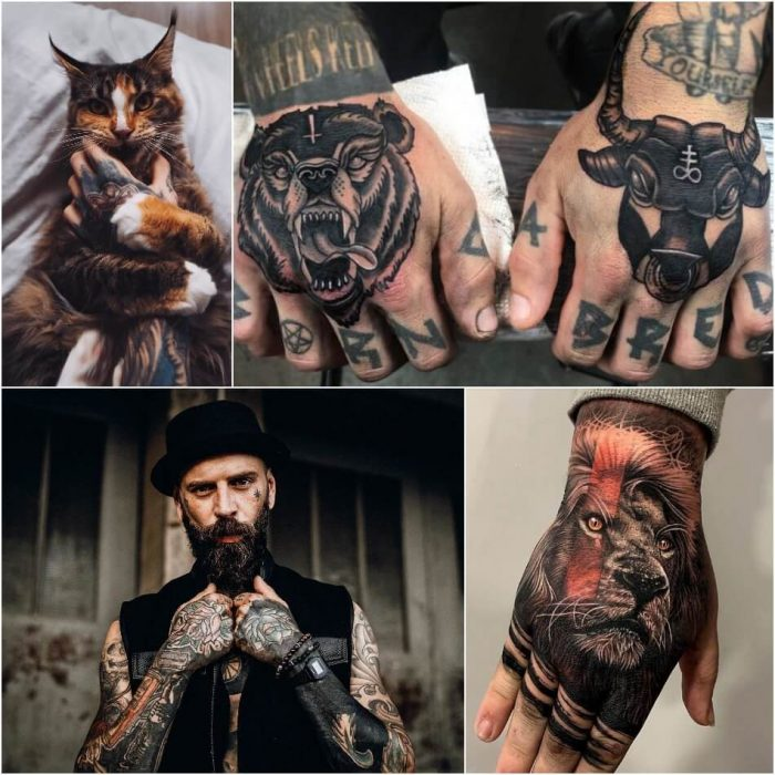 hand tattoos for men - hand tattoos - hand tattoo ideas