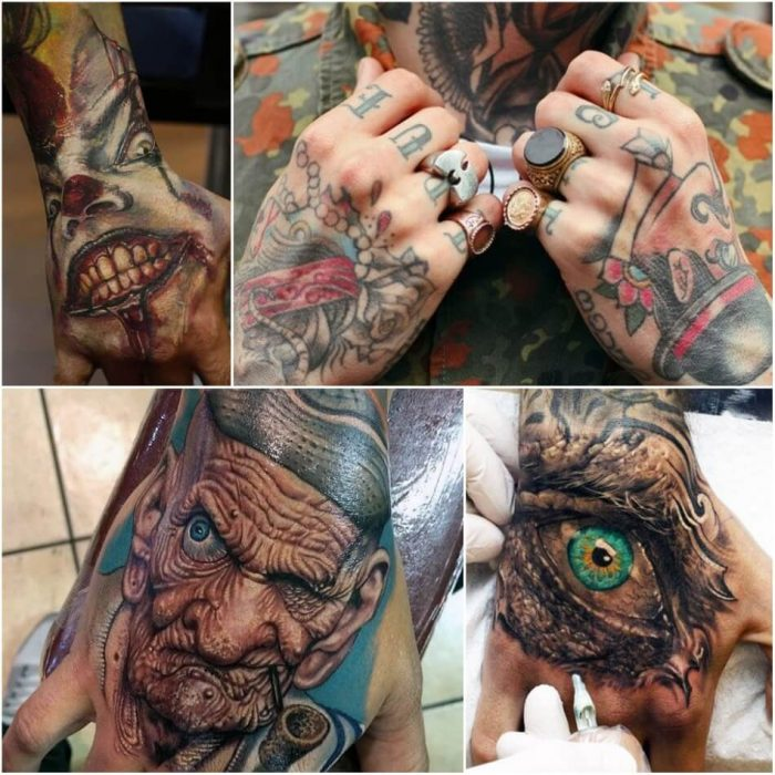 hand tattoos for men - hand tattoos - hand tattoos designs