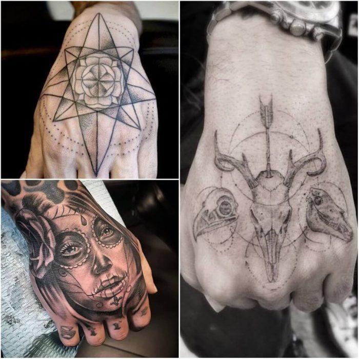 hand tattoos for men - hand tattoos - hand tattoos designs