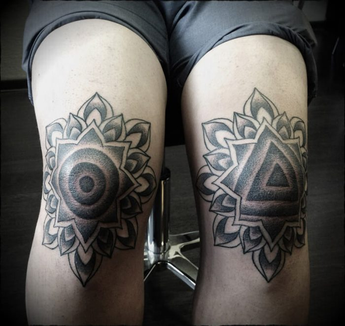 leg tattoos - leg tattoos for guys - knee tattoos