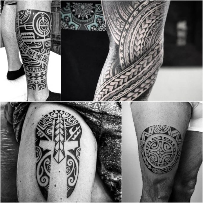 leg tattoos - leg tattoos for guys - tribal leg tattoos