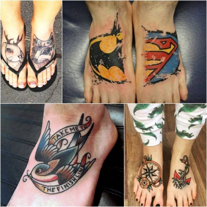 leg tattoos - leg tattoos for women - foot tattoos