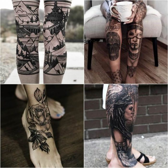 leg tattoos - leg tattoos for women - leg tattoos designs