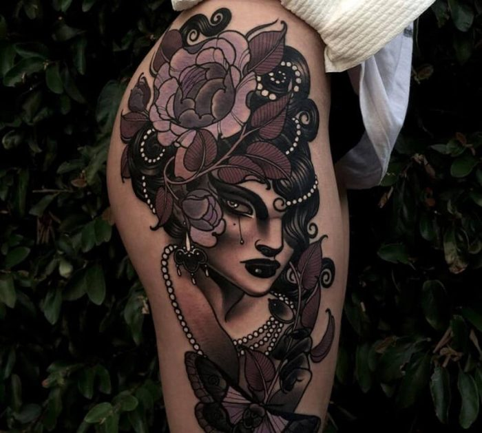leg tattoos - leg tattoos for women - thigh tattoos