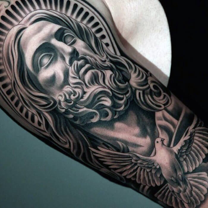 sleeve tattoos for men - shoulder tattoos - quarter sleeve tattoos