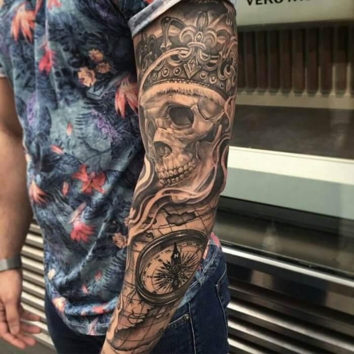 37e17ea2b1a77 Sleeve Tattoos for Men - Best Sleeve Tattoo Ideas and Designs