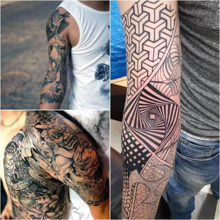 sleeve tattoos for men - sleeve tattoos - half sleeve tattoos