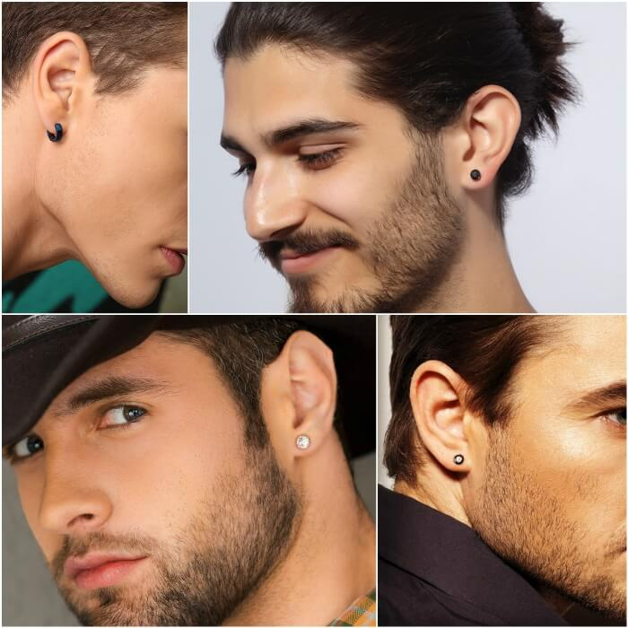 mens earrings - earrings for men - small men earrings