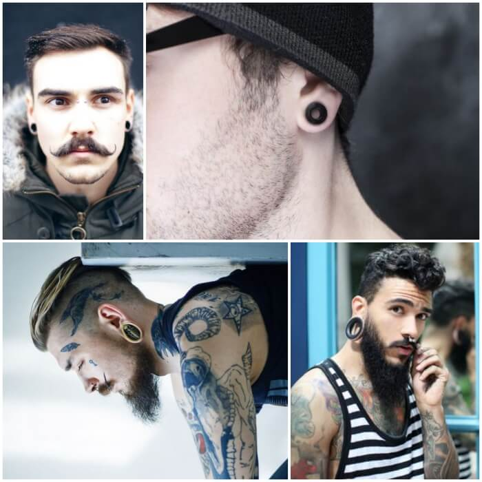 mens earrings - earrings for men - ear piercing for men