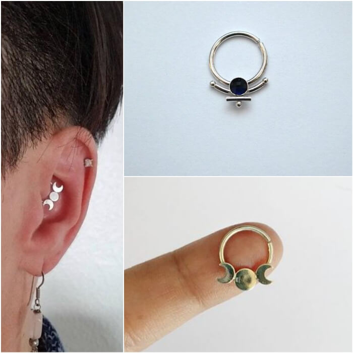 daith piercing - ear piercings - earrings