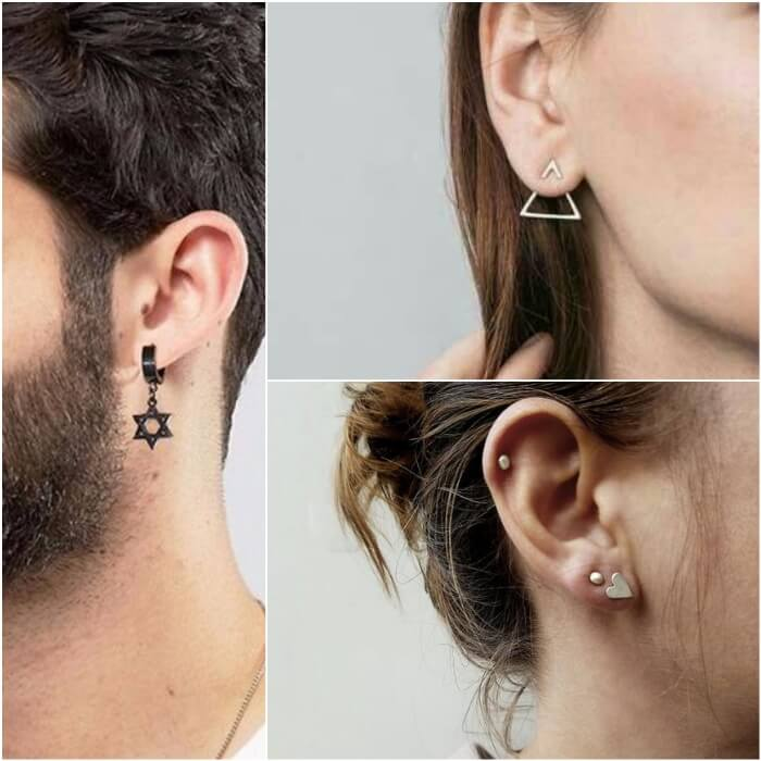 lobe piercing - ear piercings - earrings