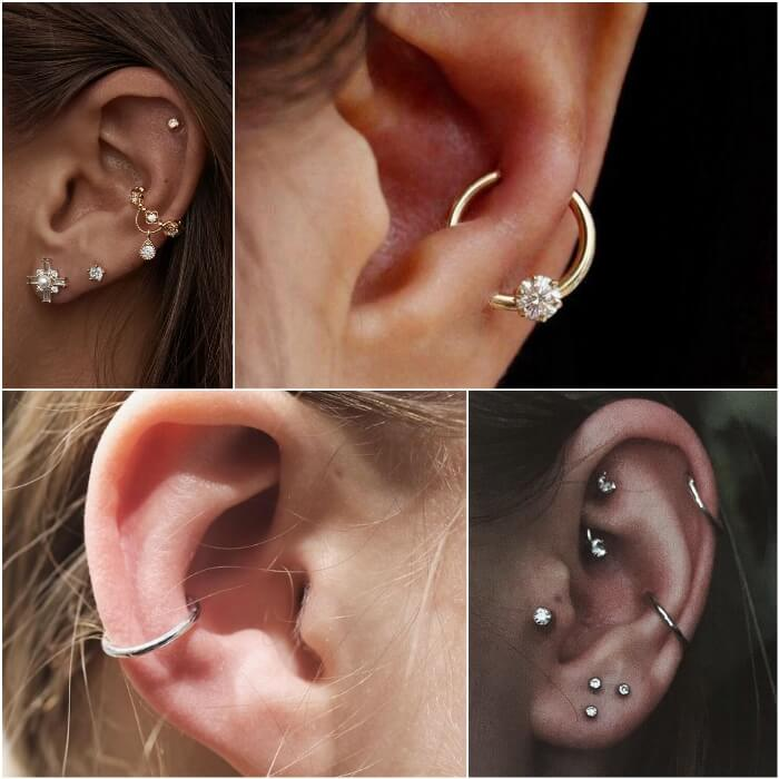 orbital piercing - ear piercings - earrings
