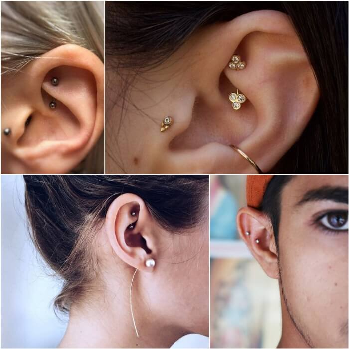 rook piercing - ear piercings - earrings
