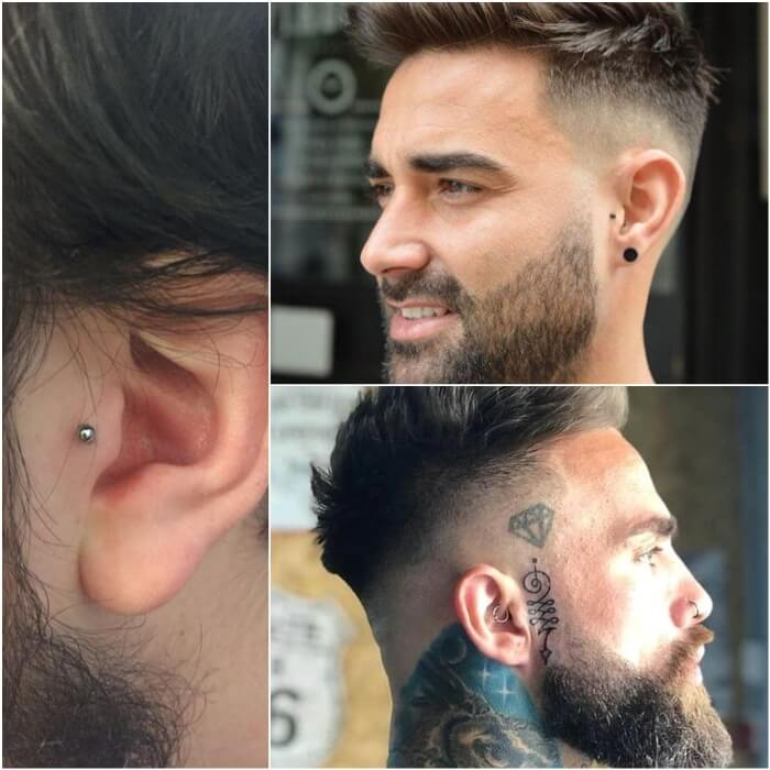 tragus piercing - ear piercings - earrings