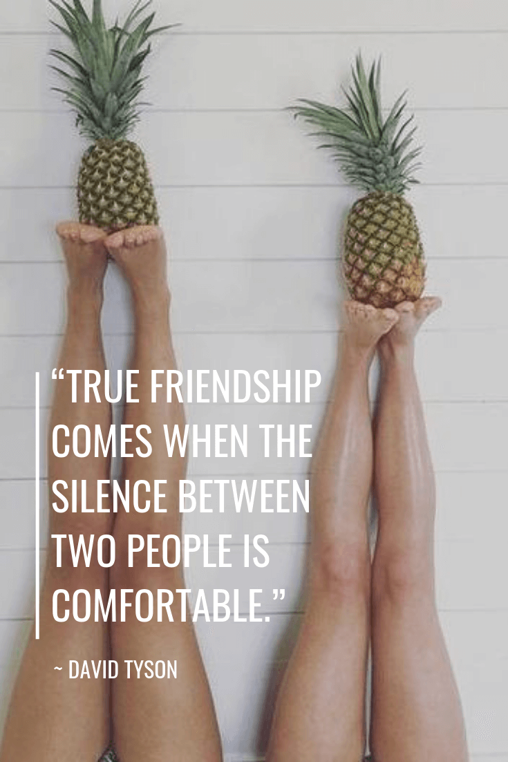 friendship quotes - DAVID TYSON quotes - TRUE FRIENDSHIP COMES WHEN THE SILENCE BETWEEN TWO PEOPLE IS COMFORTABLE