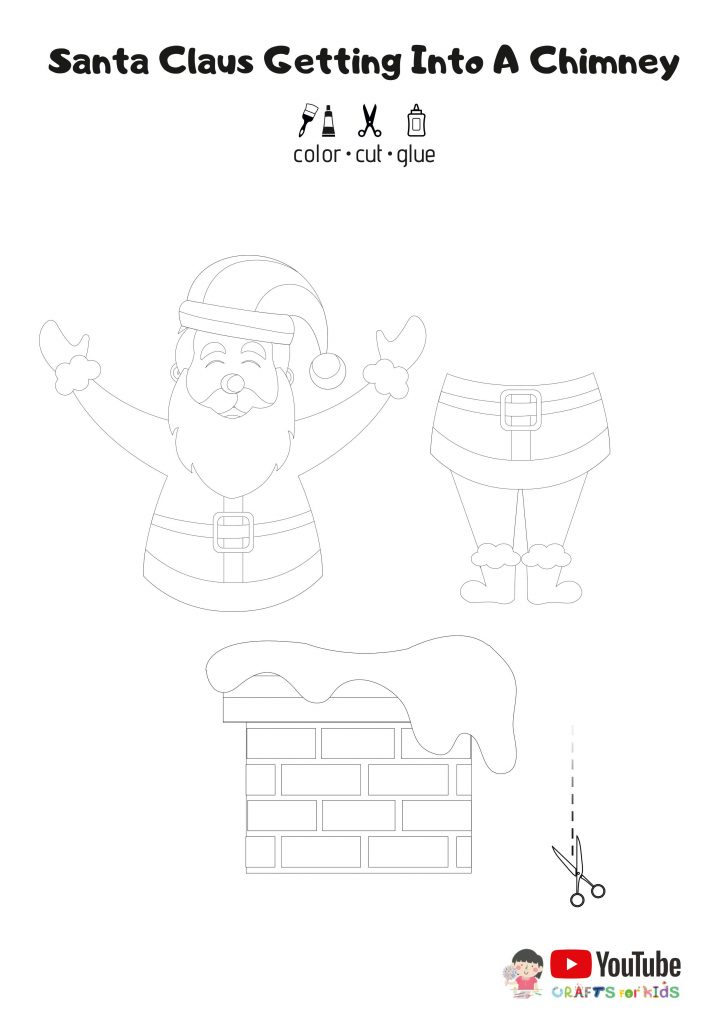 santa free template - santa craft - christmas templates for kids