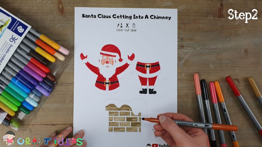 santa craft - free template for kids - christmas craft ideas