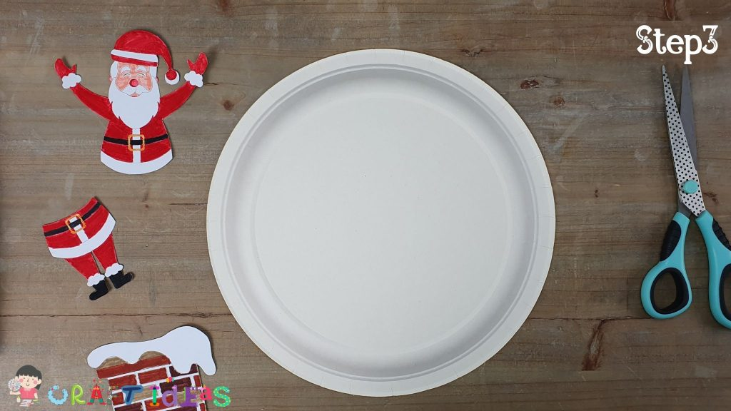 santa craft - paper plate craft ideas - christmas craft ideas