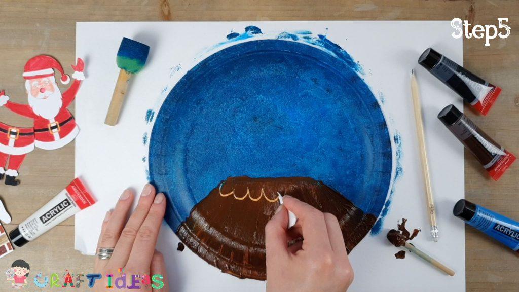 santa craft - paper plate craft ideas - christmas craft ideas