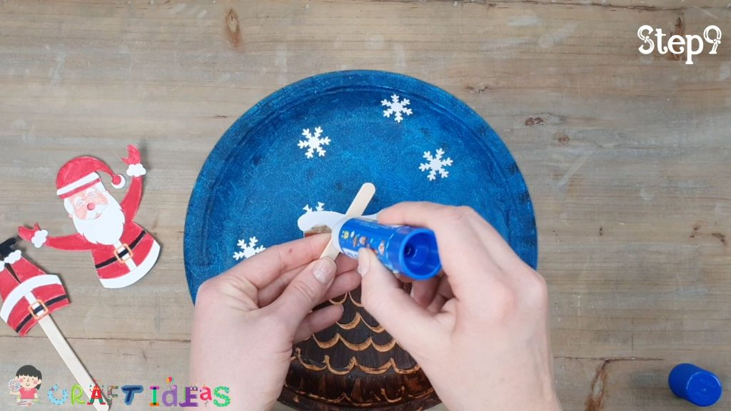 santa craft for kids - paper plate craft ideas - christmas craft ideas