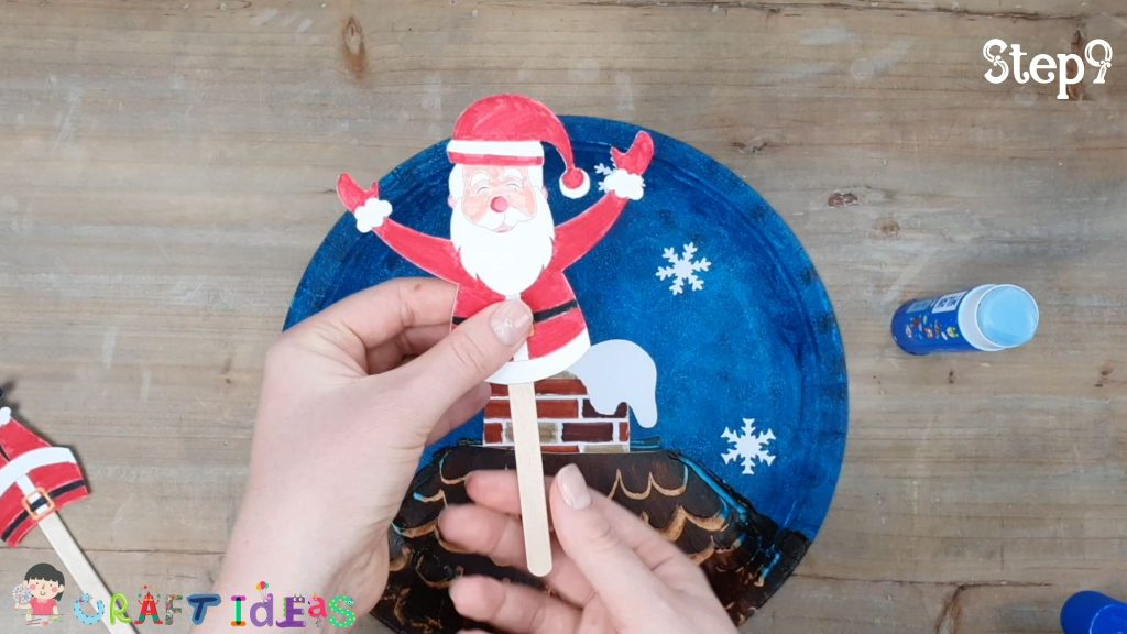 santa craft for kids - paper plate craft ideas - christmas craft ideas for kids