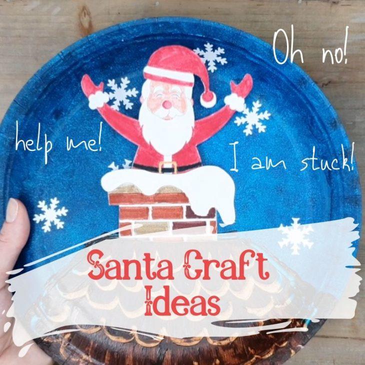 santa craft - christmas craft ideas - santa stuck in a chimney