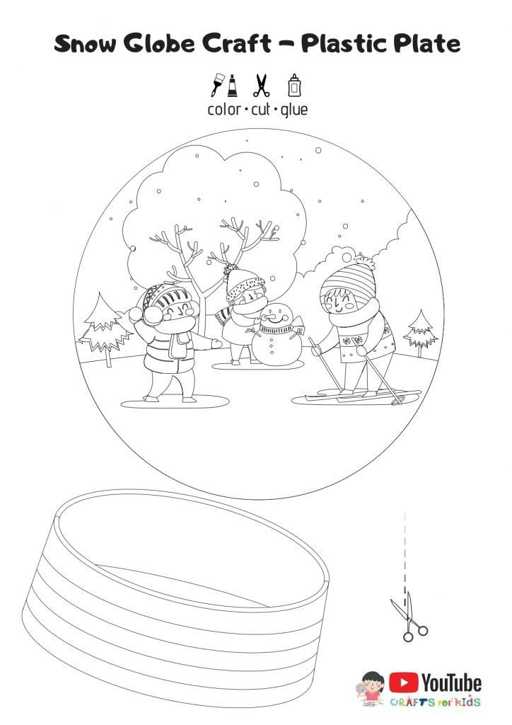 Snow Globe Craft-Free Template for Kids - Snow Globe Free Template