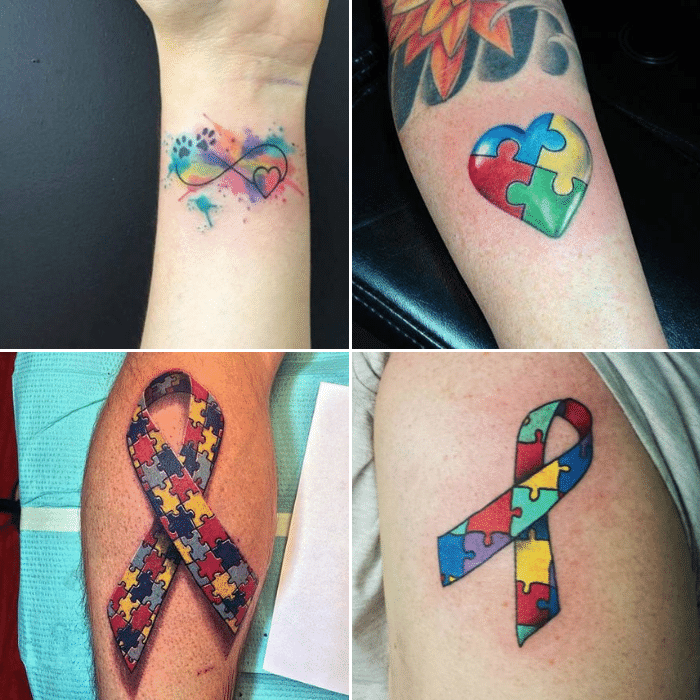 Autism Tattoo Meaning - Autism Tattoo Ideas - Autism Tattoo Puzzle Pieces
