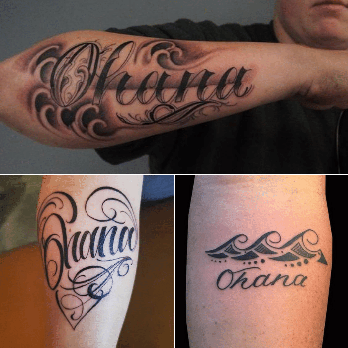 Ohana Tattoo - Ohana Tattoo Meaning - Ohana Tattoo for Men