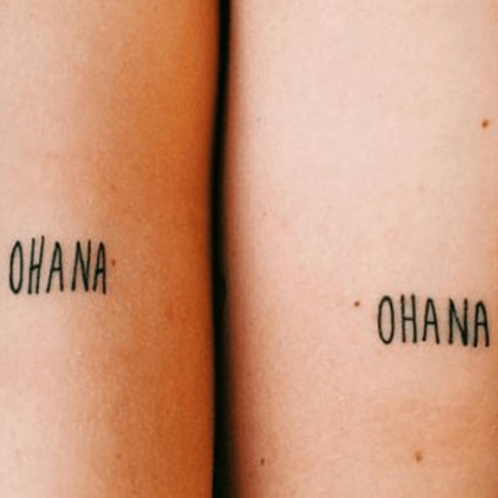 Ohana Tattoo - Ohana Tattoo Meaning - Small Ohana Tattoo Ideas