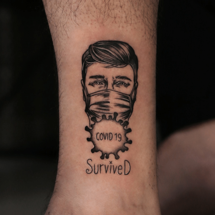 Covid 19 tattoos - Corona virus tattoo ideas - Survivor tattoo ideas