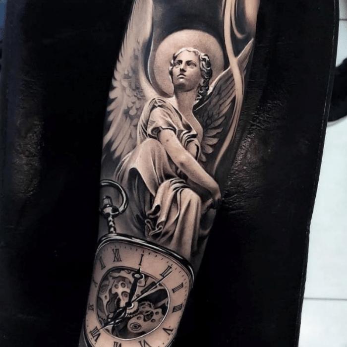 angel tattoos - angel tattoo ideas - angel tattoo on arm