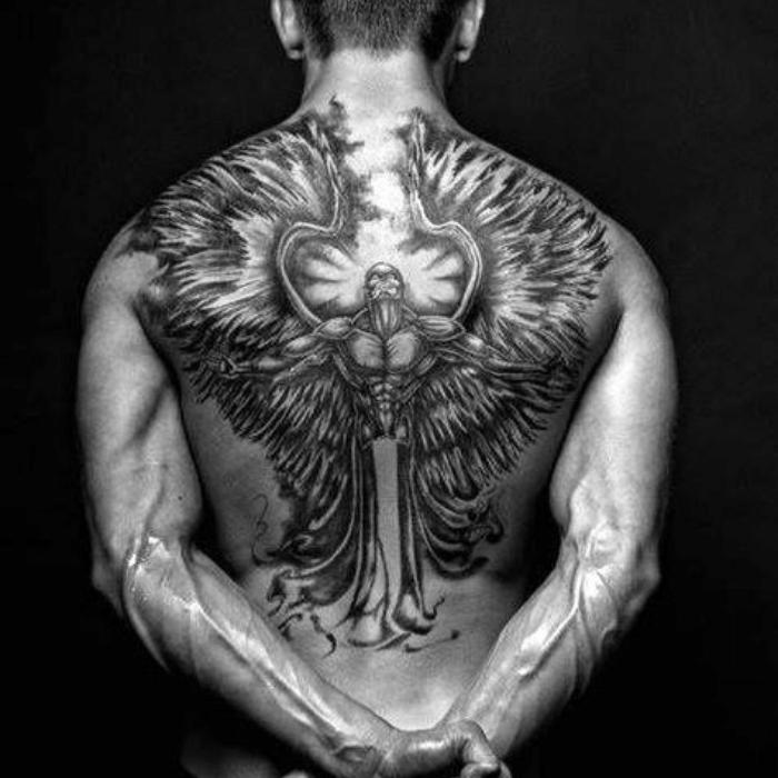 angel tattoos - angel tattoo ideas - angel tattoo on back