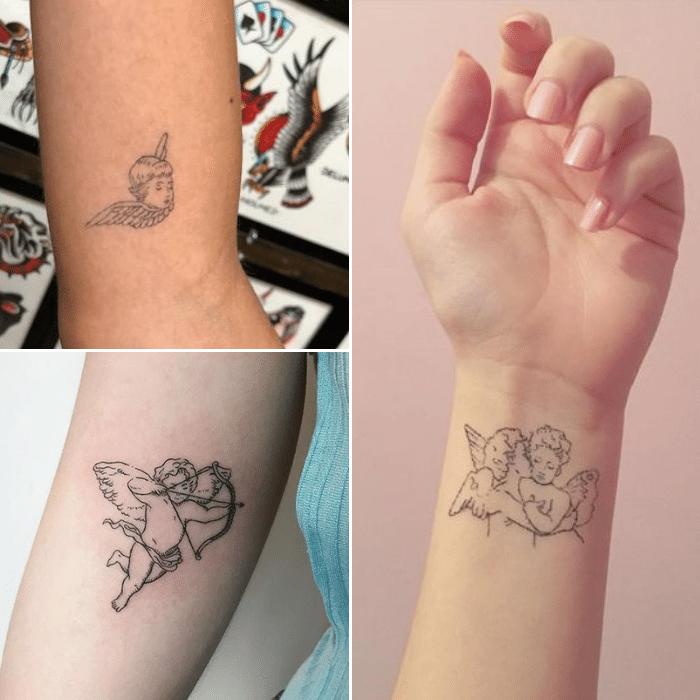 angel tattoos - angel tattoo ideas - cute angel tattoo