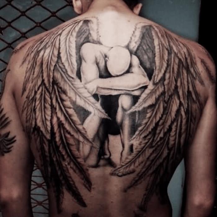 angel tattoos - angel tattoo ideas - fallen angel tattoo