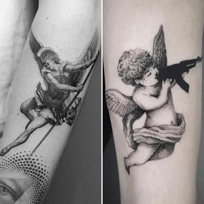 angel tattoos - angel tattoo ideas - simple angel tattoo