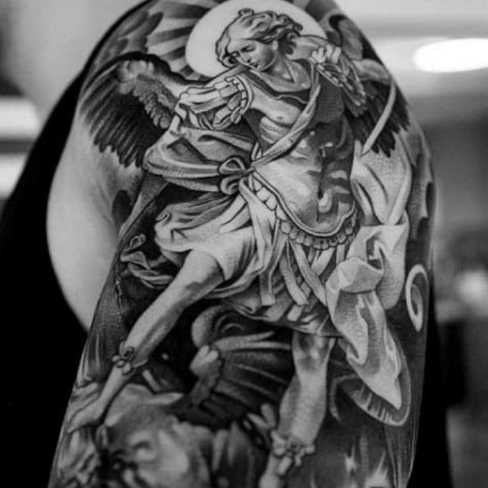 angel tattoos - angel tattoo ideas - sleeve angel tattoo