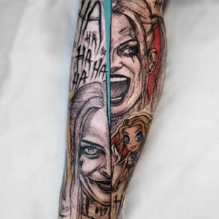 Harley Quinn Tattoos Meaning - Forearm Harley Quinn Tattoo - Harley Quinn Tattoo Ideas