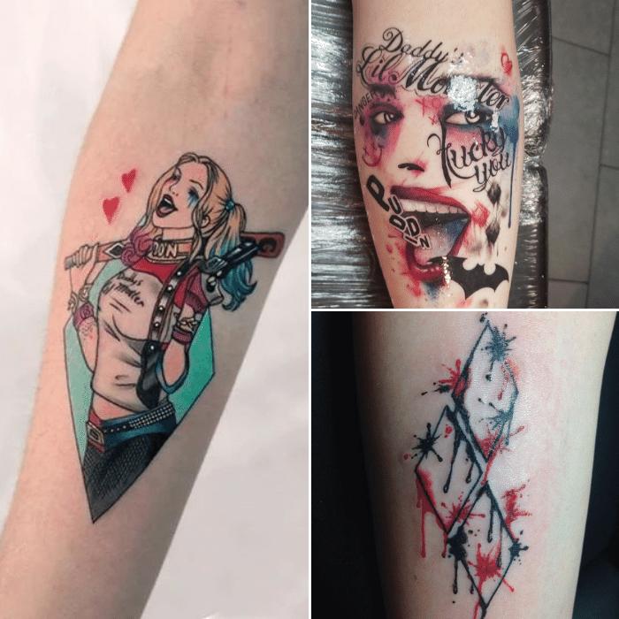Harley Quinn Tattoos Meaning - Harley Quinn Tattoo Ideas - Harley Quinn Forearm Tattoos
