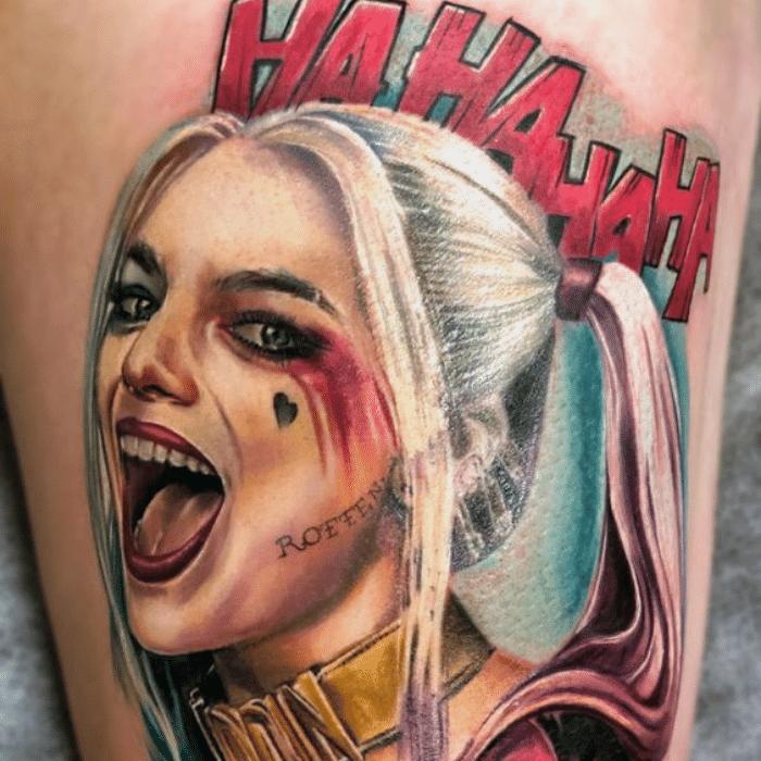 Harley Quinn Tattoos Meaning - Harley Quinn - Tattoo Placement - Harley Quinn Rotten Tattoo