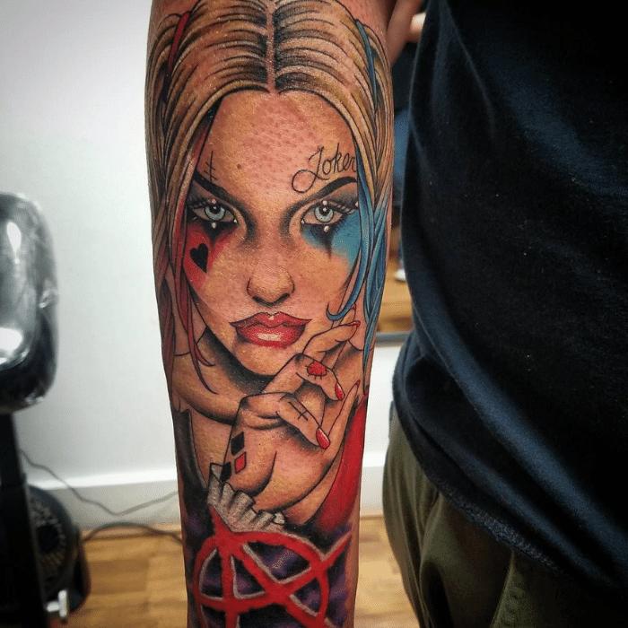 Harley Quinn Tattoos Meaning - Harley Quinn Tattoo Placement - Harley Quinn Tattoo Ideas