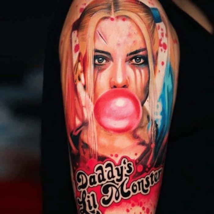 Harley Quinn Tattoos Meaning - Harley Quinn Tattoos in Movie - Harley Quinn Tattoos