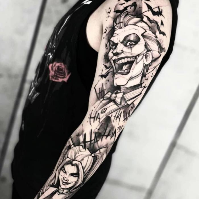 Sleeve Harley Quinn Tattoos Ideas - Harley Quinn Rotten Tattoo - Harley Quinn Men Tattoos